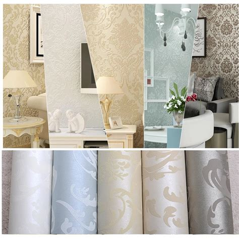 glitter wallpaper feature wall non woven european glossy stylish blue beige white modern
