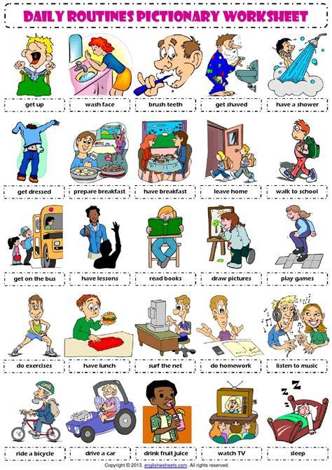 vocabulary daily routines rutinas rutinas diarias y crianza de los hijos