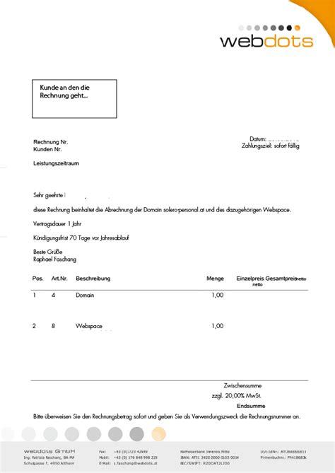 Vorlage Rechnung Nicht Bezahlen Austria Domain Hosting Rechnungen Sind Betrug Webdots