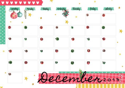 printable time zone calendar december 2017 printable colorful calendar free download