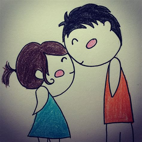 wallpaper cartoon sad sad love girl and boy image sad drawings of boys and girls