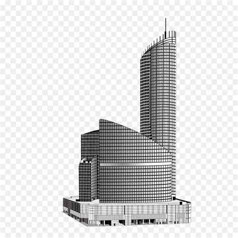 gambar ilustrasi gedung hitam putih iluszi