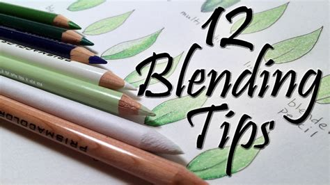 for colored 12 blending tips for colored pencils