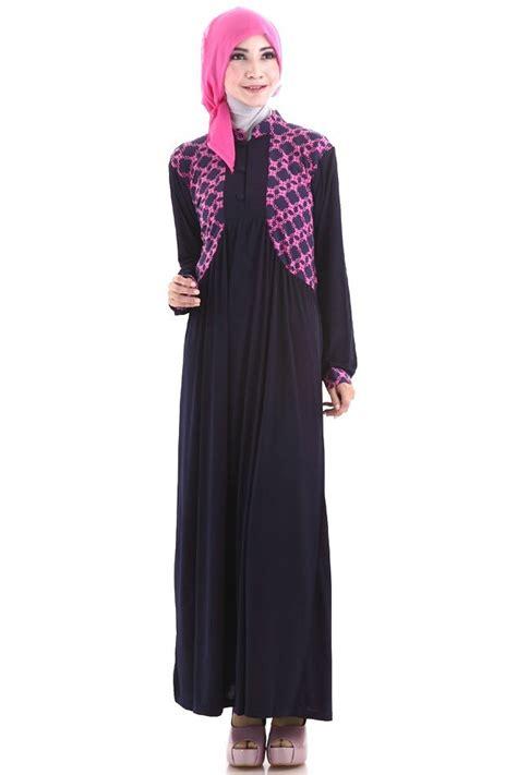 Baju Gamis Kombinasi 2 Warna 20 model gamis terbaru wanita muslimah contohbusanamuslim