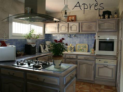 Peinture Meuble Cuisine Avant Apres by Relooker Cuisine Rustique Avant Apres 14 Repeindre