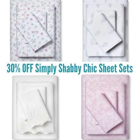 target 30 off simply shabby chic sheet sets today only mylitter one deal at a time