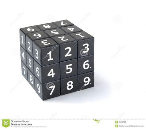 printable sudoku cube sudoku cube puzzle stock photo image 39030199