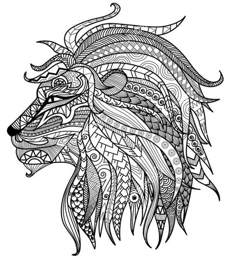 coloring page of lion head adult coloring pages lion head adult coloring pages and