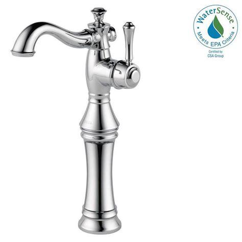 delta vessel sink faucets delta cassidy single single handle vessel bathroom