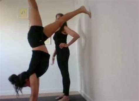 tutorial handstand yoga video afraid of handstands check this out health