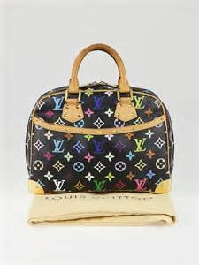 louis vuitton black multicolore monogram trouville bag