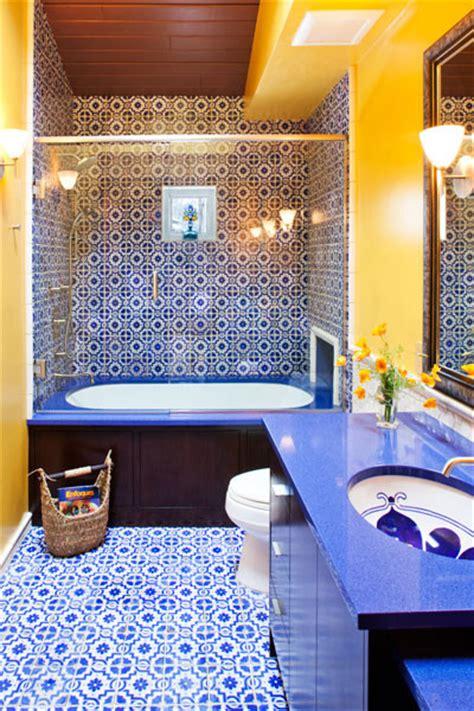 yellow and blue bathroom bathroom mediterranean bathroom minneapolis by