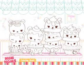 nom nom coloring pages free num noms coloring pages activities for