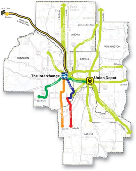 twin cities light rail map twin cities rail transit proposals could be on a