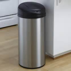 stainless steel kitchen trash can nine dzt 49 8 touchless stainless steel 13 gallon