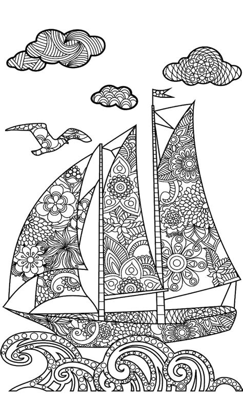 nautical coloring pages for adults 45 best coloring nautical images on pinterest adult