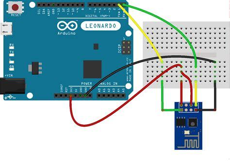 tutorial arduino wifi esp8266 esp8266 attached to an arduino leonardo