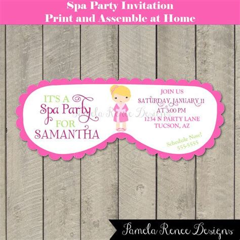17 best images about spa party on pinterest kid