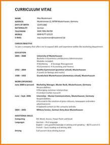 Curriculum Vitae Website 11 cv vorlage englisch resignation format