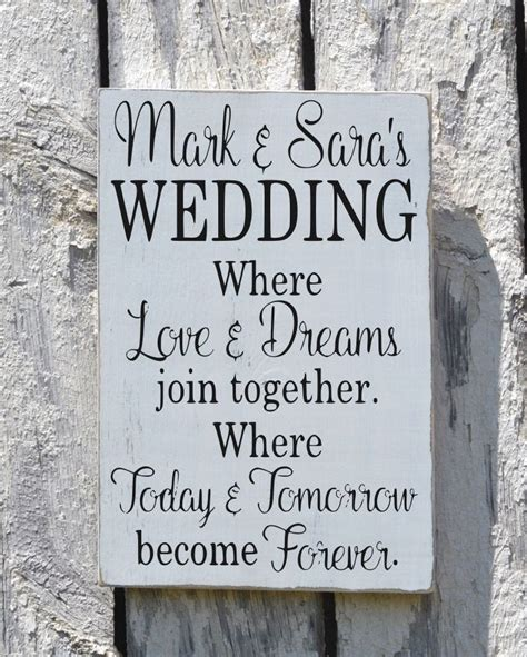 Wedding Sayings rustic wedding sign welcome personalized signs for