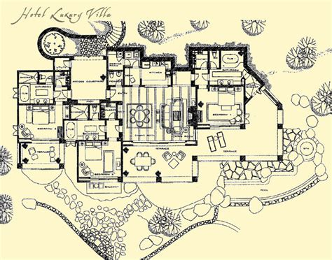 design plans floor plans hotel luxury villa timbers collection