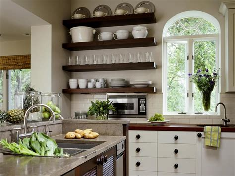 open shelves in kitchen ideas white country style kitchen with open shelving hgtv