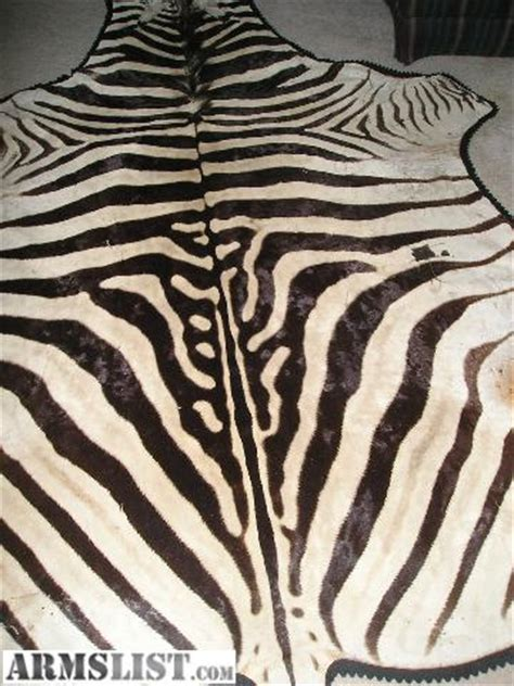 Zebra Skin Rug For Sale by Armslist For Sale Zebra Skin Rug