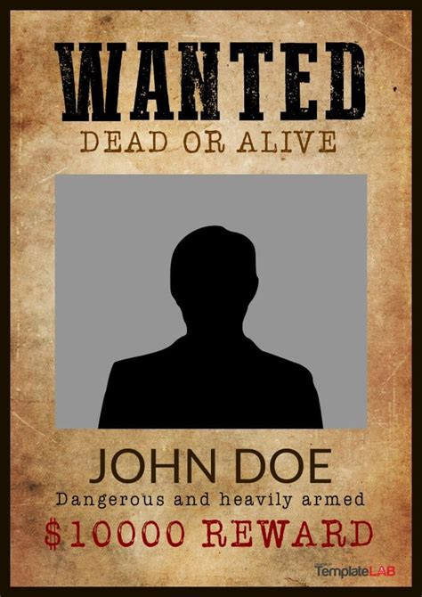 free wanted poster template 29 free wanted poster templates fbi and west