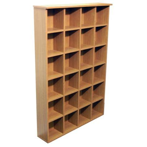 pigeon cd dvd media storage shelves oak
