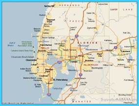 map of ta florida vacations travel map
