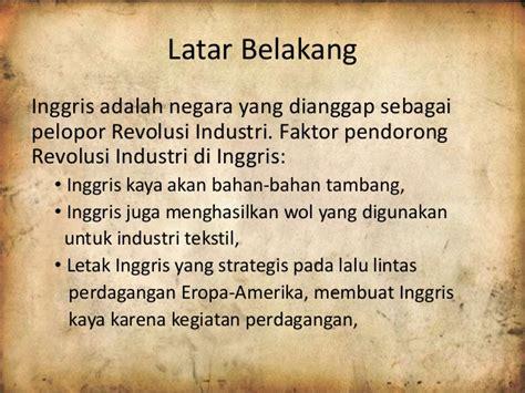 latar belakang pemerintah membuat kompilasi hukum islam revolusi industri