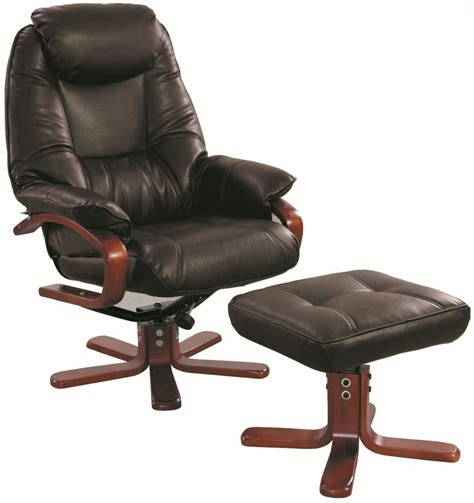 Recliner Swivel Chairs Uk by Buy Gfa Macau Chocolate Bonded Leather Swivel Recliner