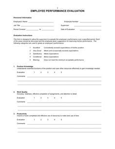 employee recognition form template free employee performance evaluation form template work