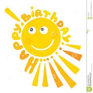 cheerful sun s birthday royalty free stock photography