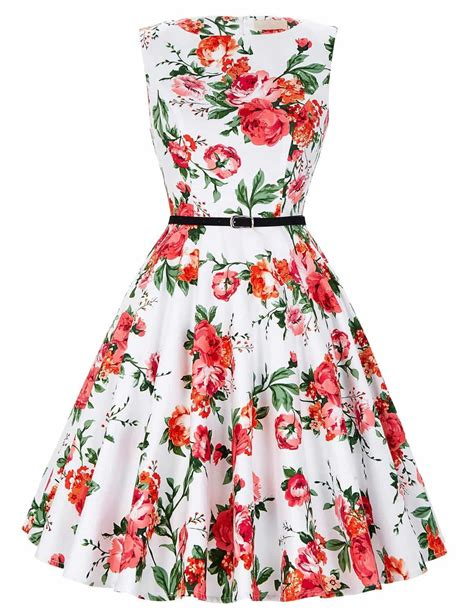Red Rose Swing Dress 1950sglam
