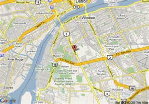 Windsor Canada Map by Map Of Holiday Inn Select Windsor Ontario Windsor