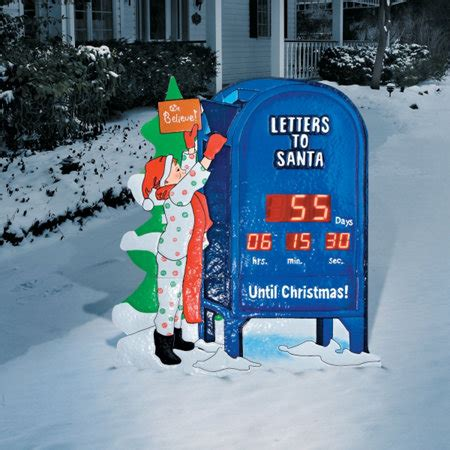 countdown to christmas snowman lighted digital clock yard decor countdown clock