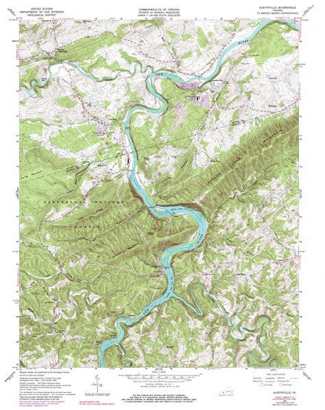 virginia topographic map austinville topographic map va usgs topo 36080g8