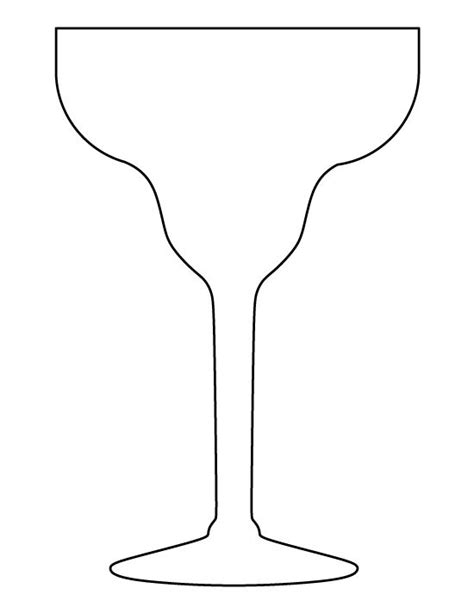 printable glass stencils margarita glass pattern use the printable outline for