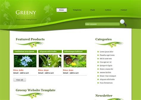 ccs template 20 free green css templates web3mantra