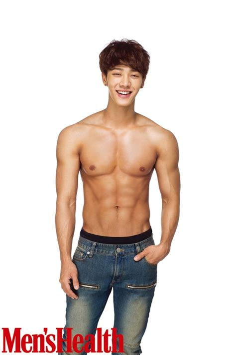 lee gikwang is shirtless and toned for men s health