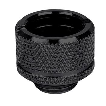 Thermaltake Pacific G14 Petg 16mm Od Compression Black pacific g1 4 petg 16mm od black compression adapter diy lcs fitting from thermaltake