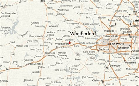 weatherford texas map weatherford location guide