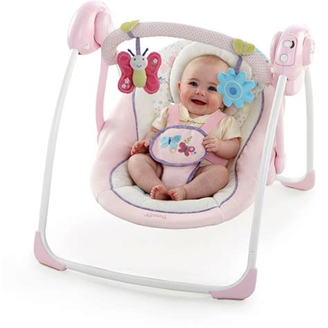 bright starts swing pink bright starts comfort harmony portable swing penelope