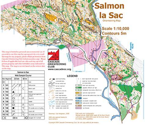 louisiana cgrounds map salmon la sac cascade orienteering cascade orienteering