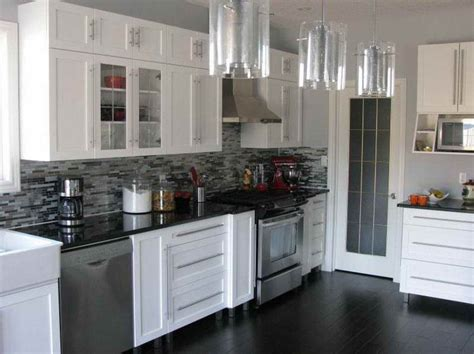 Black Kitchen Cabinets Lowes by No Voc Paint For Kitchen Cabinets With Black Tiles House