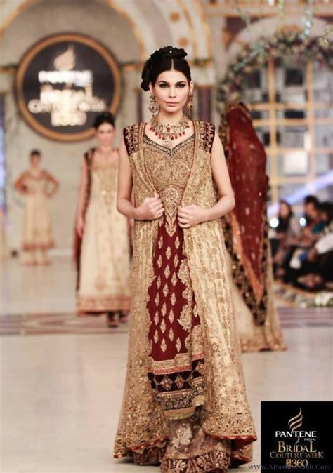 Maxi Zaenab Maroon barat dresses 2016 in pakistan