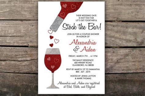 stock the bar invitation couples shower invitation