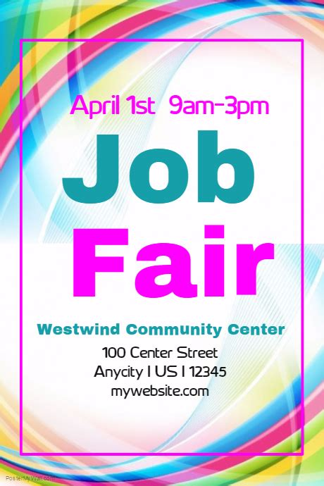 job fair flyer postermywall