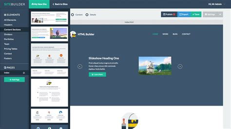 tutorial website builder 4 sitebuilder laravel drag drop site builder and cms by